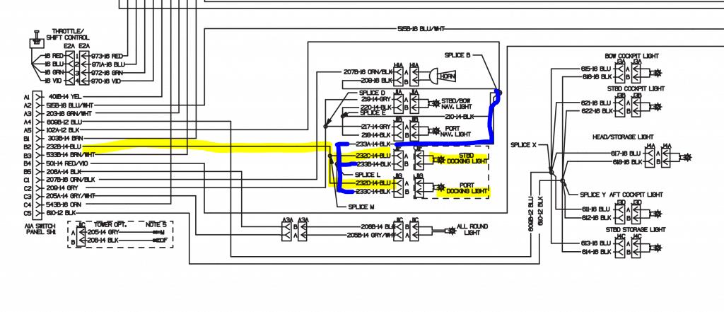 Starboard Docking Light Schematic
